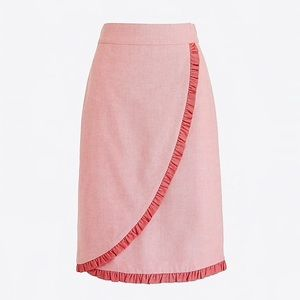 Pink Oxford Ruffle Skirt
